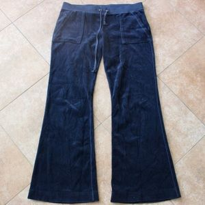 LIKE NEW JUICY COUTURE NAVY BLUE SWEAT PANT VELOUR